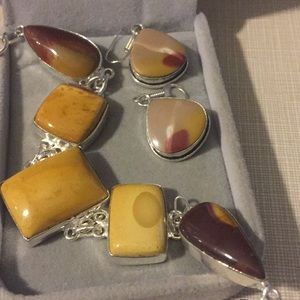 Jewelry - New Nature colors Mookaite bracelet set